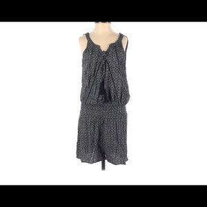 Mysteree Black & White Shorts Romper